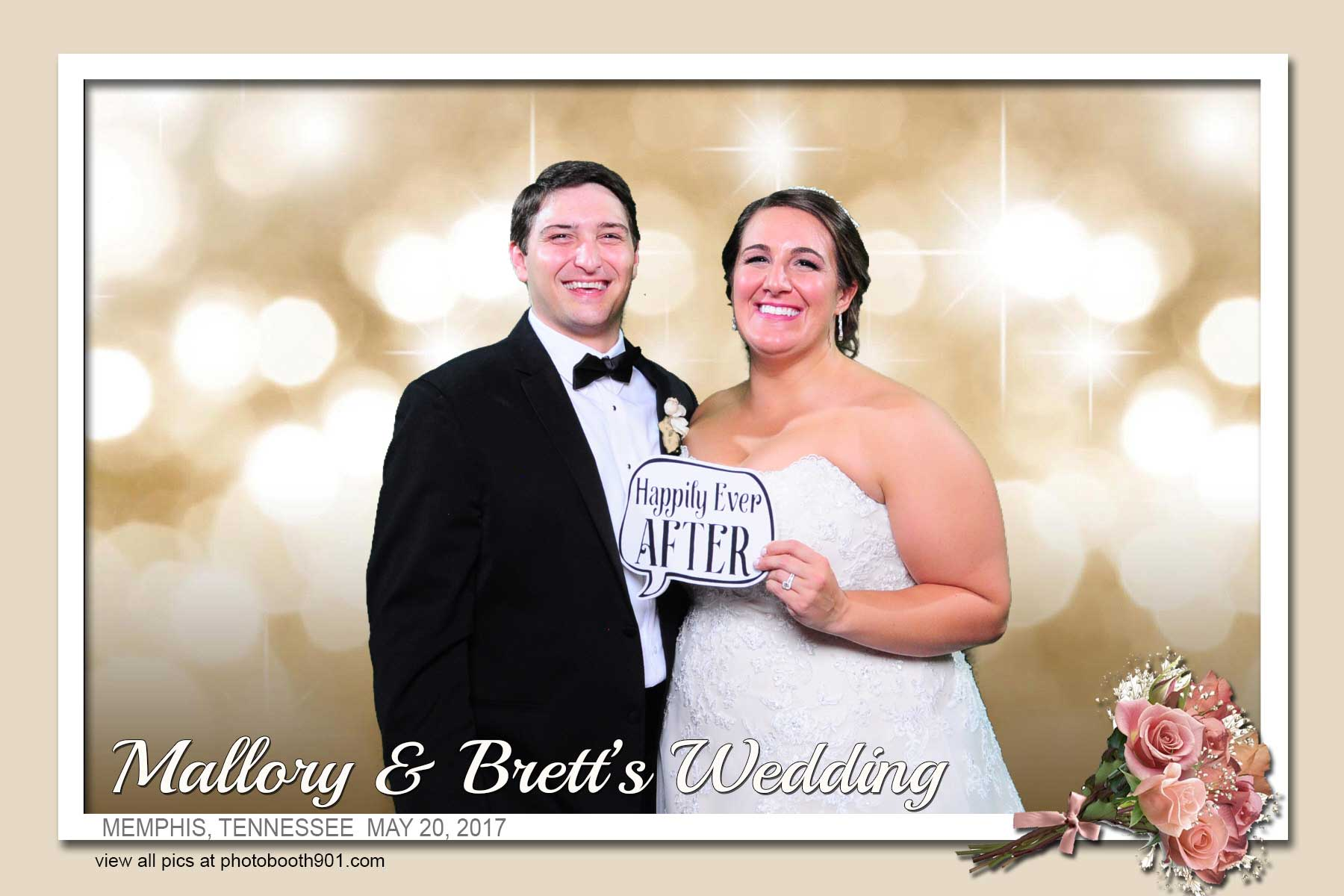 Mallory and Brett's Wedding Photo Booth Memphis