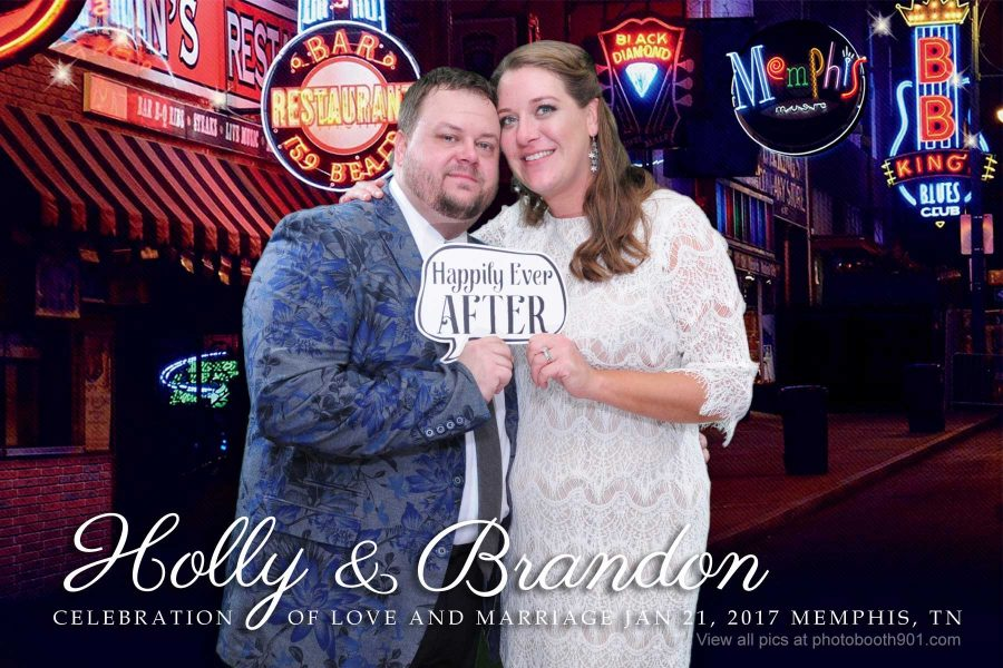 Holly and Brandon's Wedding Photo Booth Memphis