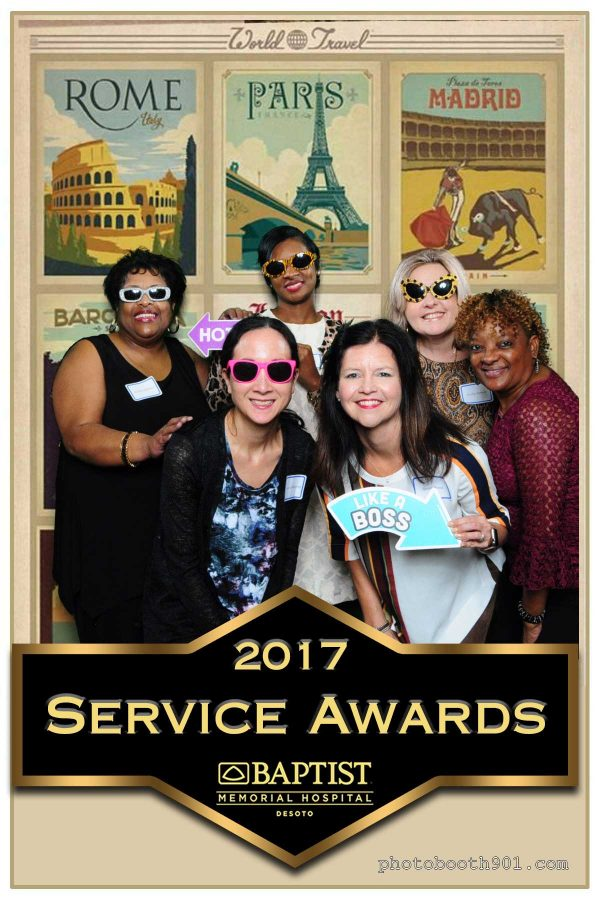 Photo Booth Baptist Memorial Hospital Desoto 2017 Service Awards