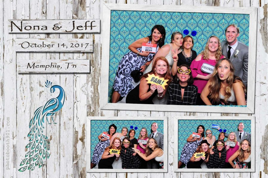 Nona and Jeffery's Wedding Reception Photo Booth