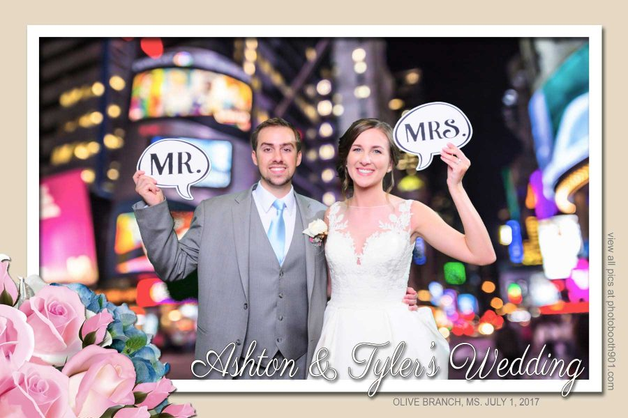 Ashton and Tyler's Wedding Photo Booth Memphis