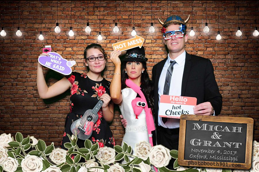 Micah and Grant's Wedding Reception Photo Booth