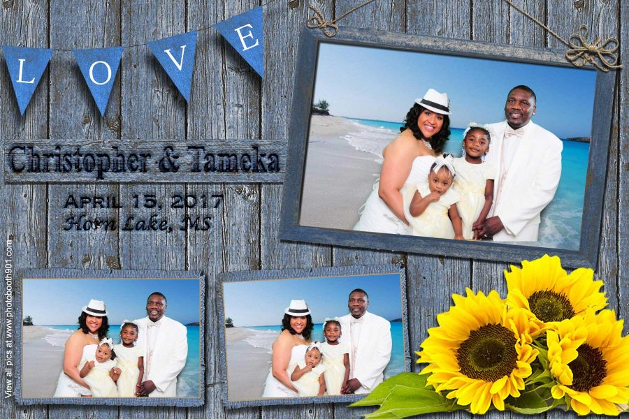 Christopher and Tameka's Wedding Photo Booth Memphis