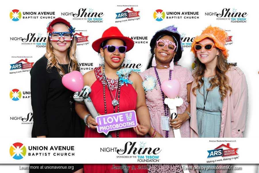 Night to Shine Photo Booth at Union Ave Baptist Church