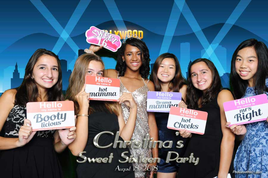 Christina's Sweet Sixteen Photo Booth