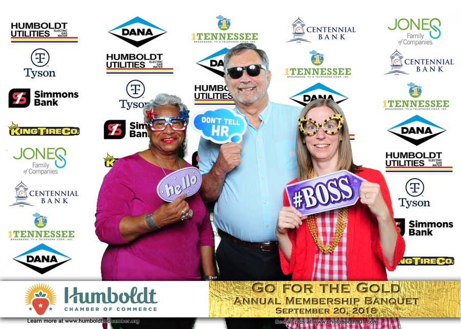 Humboldt Chamber of Commerce Membership Banquet Photo Booth