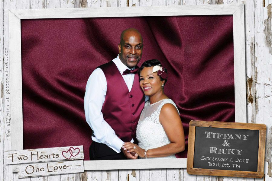 Tiffany and Ricky's Wedding Reception Photo Booth