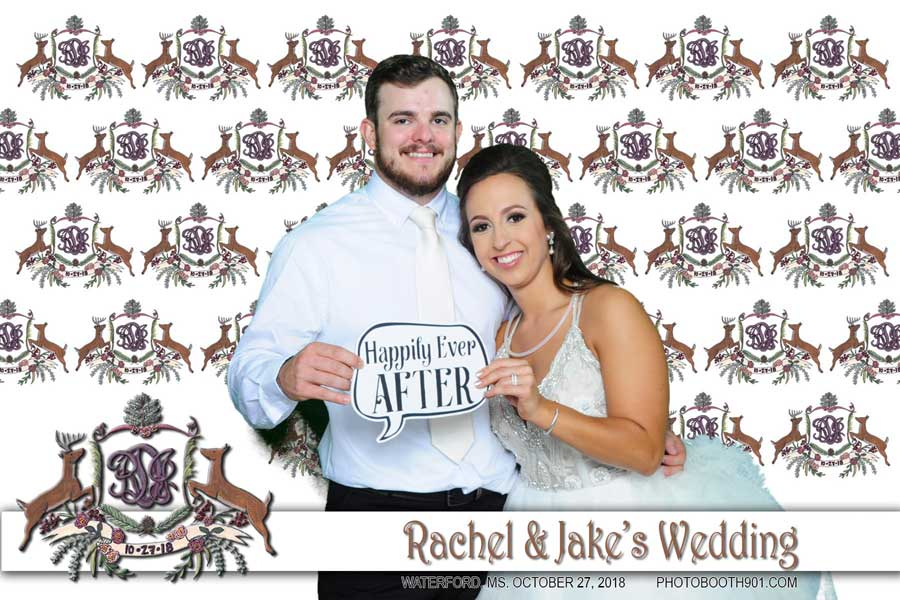 Jake and Rachel's Wedding Reception Photo Booth