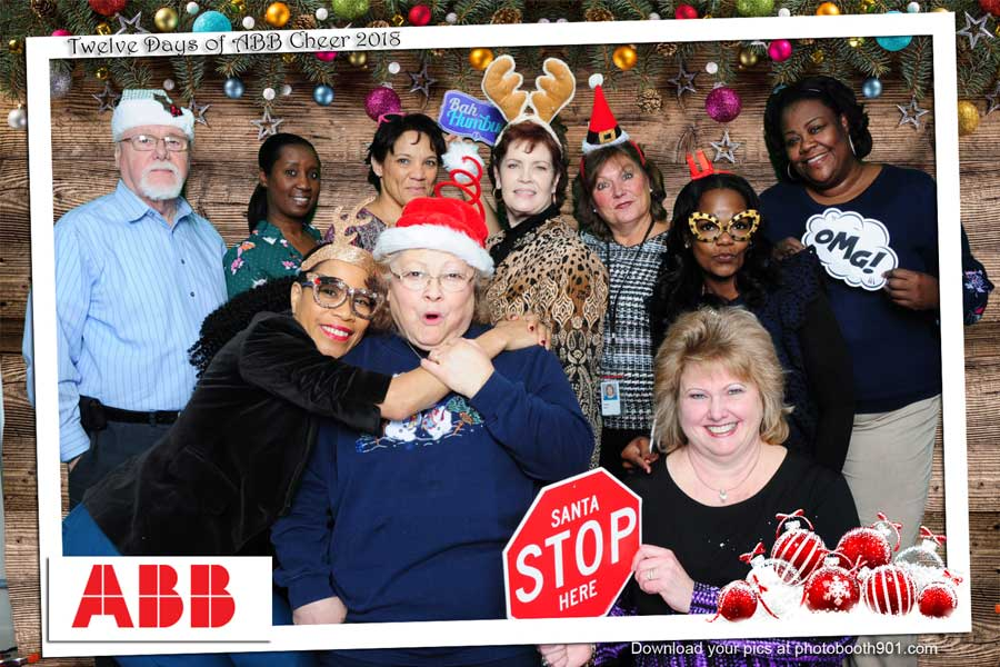 Twelve Days of ABB Cheer 2018 Photo Booth