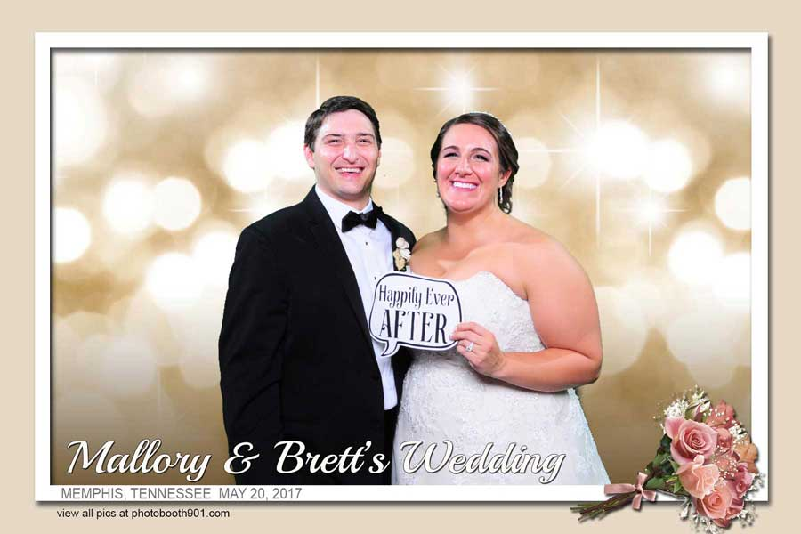 Mallory and Brett's Wedding Reception Photo Booth