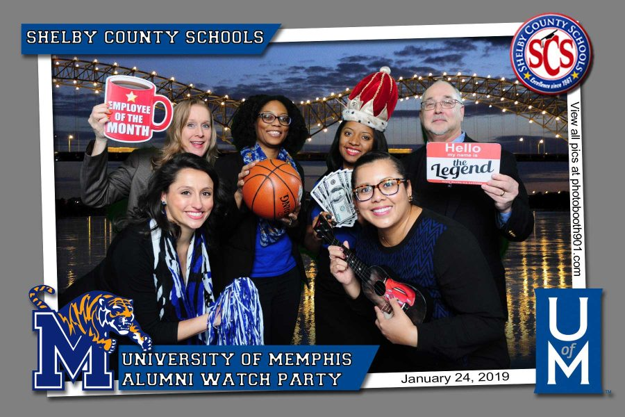 Shelby County Schools University of Memphis Watch Party Photo Booth