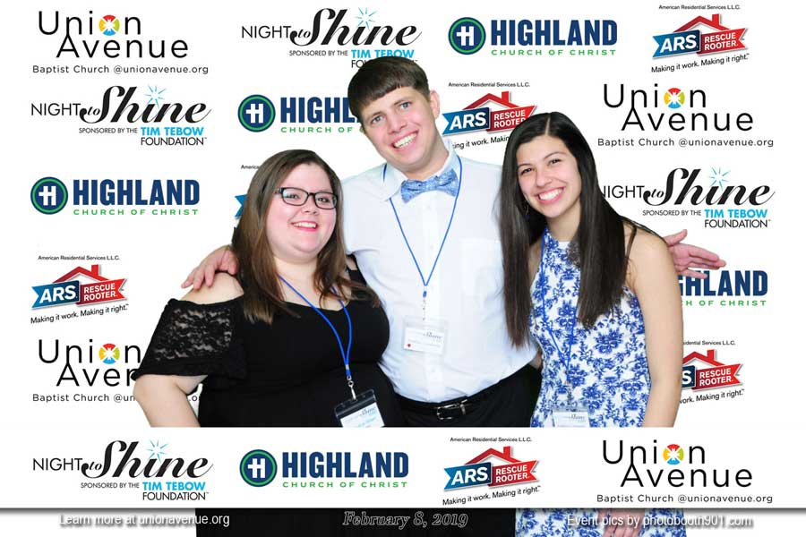 Memphis photo booth rental for Night to Shine