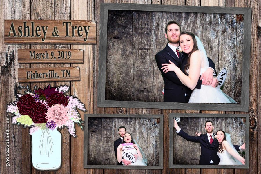Ashley and Trey's Wedding Reception Photo Booth Rental Memphis