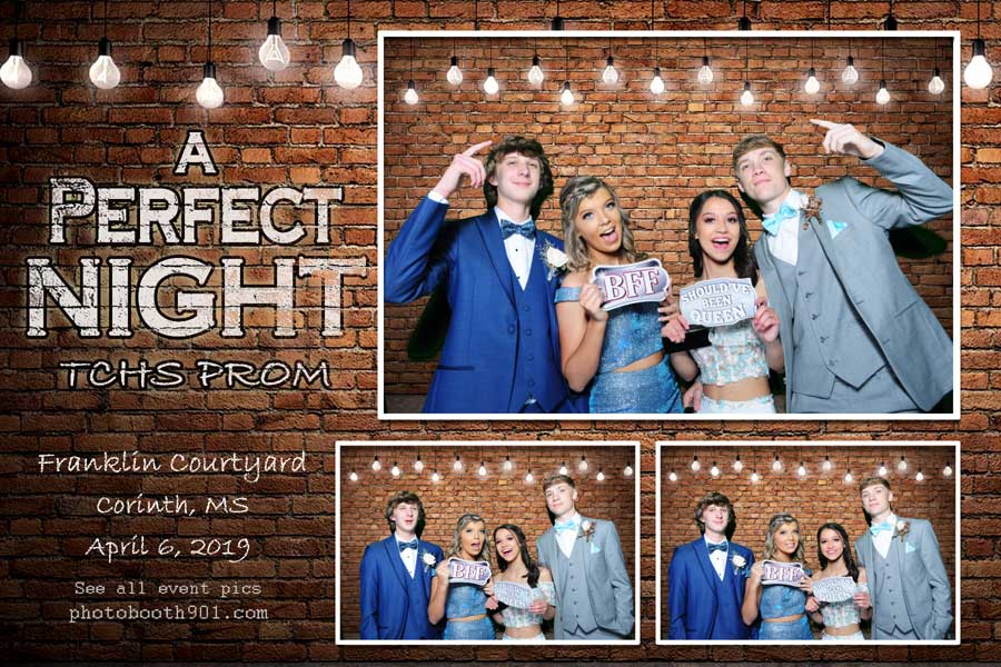 Tishimingo County High School Prom Photo Booth Rental Memphis
