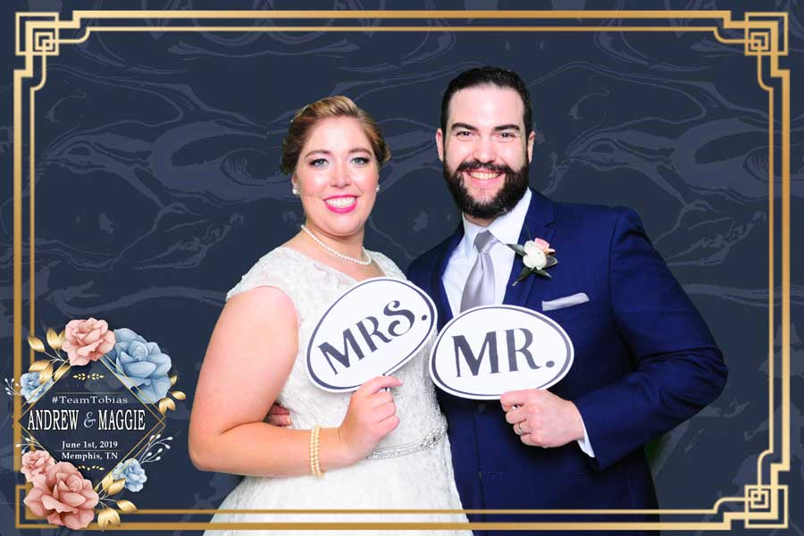 Maggie and Andrew's Wedding Reception Photo Booth