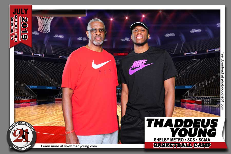 Photo Booth Rental Memphis Thad Young Basketball Camp
