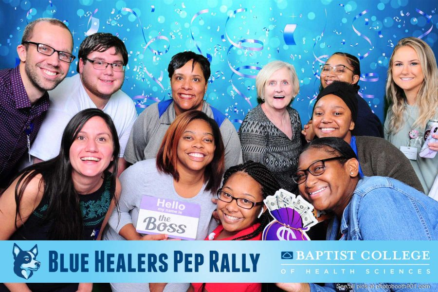 Baptist College Blue Healer Pep Rally Photo Booth