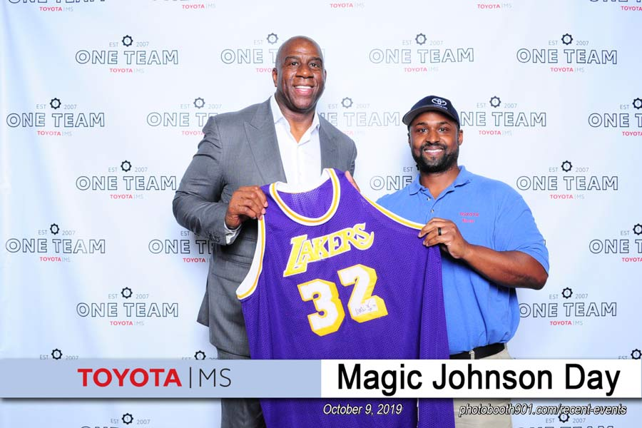Magic Johnson Day at Toyota Mississippi Photo Booth