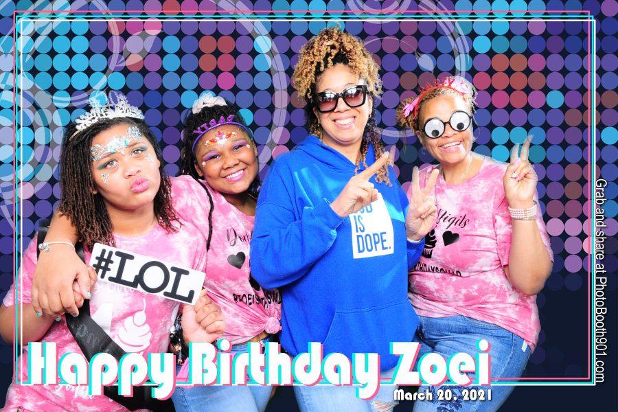 Zoei's Birthday Party Photo Booth Memphis